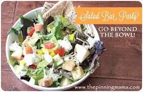 How To Throw A Backyard Party How To Throw A Salad Bar Party And A Printable The Pinning Mama