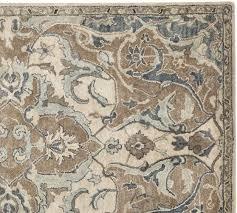 Pottery Barn Malika Rug Nolan Persian Style Rug Neutral Pottery Barn Floor Cloth