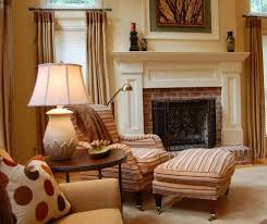 fireplace mantel decor for a traditional living room with a mantel