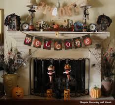 decorating ideas scary halloween mantel decorations onyapan home