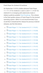 adobe flash player 11 1 for android adobe flash for android on lg g4 tablets and mid