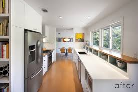 modern galley kitchen ideas a before and after galley kitchen renovation series of photos a
