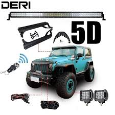 jeep wrangler tj light bar 5d 50 288w offroad dual row straight combo led work light bar for