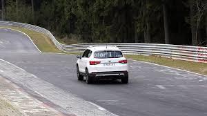 seat ateca cupra spied tackling the nurburgring