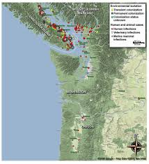 map usa northwest figure spread of cryptococcus gattii into pacific northwest