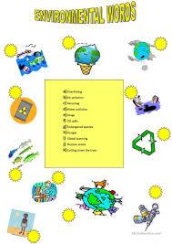 173 free esl environment worksheets