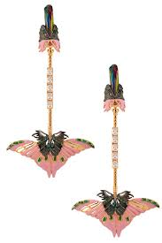 outhouse earrings outhouse presents gold plated papilio blush pink ear pendants