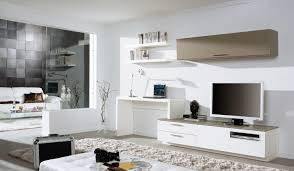 Led Tv Table Decorations Love The Tv Desk And Wall Mounted Unit Looks As If It U0027s All