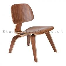 charles ray eames style lcw chair walnut
