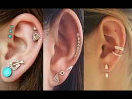 ear piercing studs ear piercing stud and ring designs