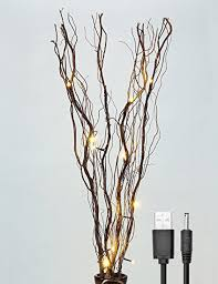 battery lighted willow branches amazon com lightshare upgraded 36inch 16led natural willow twig