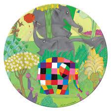 Elmer The Patchwork Elephant Story - petit jour エルマー プティジュワ デザートプレート エルマー