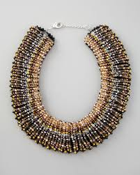 choker necklace beads images Lyst nakamol beaded choker necklace stylist pick in metallic jpeg