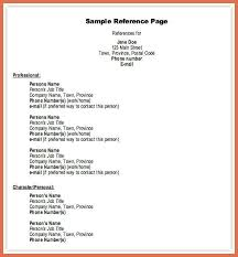 how to write reference for resume how to write references in a