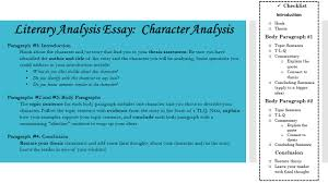 Examples Of Character Analysis Essays Literary Analysis Introduction Paragraph When Great Teachers Are