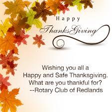 redlands rotary club happy thanksgiving