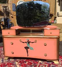 Dressing Table Shabby Chic by Art Deco Painted Dressing Table Coral Gold Paint Egyptian Woman