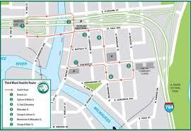 Map Of Milwaukee Milwaukee Public Market Third Ward Shuttle Service