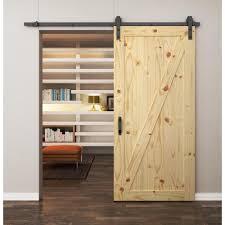 Barn Door Furniture Company Rustic Z Wood Barn Door In Knotty Pine International Door Company