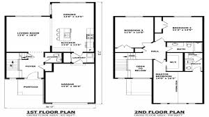 contemporary cool two story house floor plans storey plan autocad