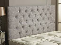 Grey Tufted Headboard King Bedroom Padded Headboard King Beds Upholstered And Wood