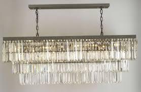 Odeon Crystal Chandelier Ideas Large Rectangular Chandelier Long Pendant Light Crystal