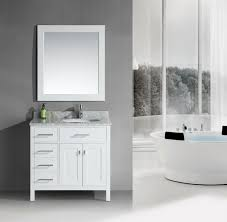 Adorna  Single Bathroom Vanity White Finish - Elements 36 inch granite top single sink bathroom vanity