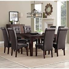 9 piece dining room set simpli home cosmopolitan 9 piece dove grey dining set axcds9 cos