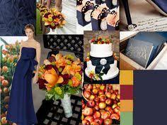orange u0026 navy blue wedding amber springs spring photos fern