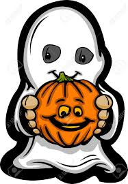 happy halloween vector cartoon image of a happy halloween ghost with smiling jack o