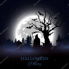 halloween picture background halloween party poster background with spooky graveyard