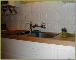 Tin Tiles For Backsplash In Kitchen White Tile Backsplash Home Design Ideas