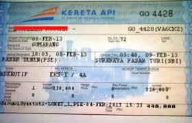 Tiket Kereta Api Air Conditioning For From Jakarta To Bandung Eks J