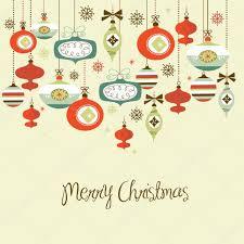 retro christmas decorations u2014 stock vector alisafoytik 34452439