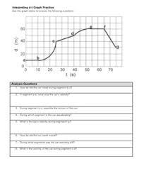 interpreting motion graphs worksheet stinksnthings