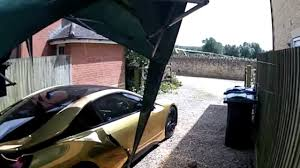 Gold Chrome Bmw I8 Nearly Gets Smashed On Video Youtube