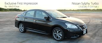 nissan sylphy exclusive first impression ทดลองข บ nissan sylphy 1 6 dig turbo