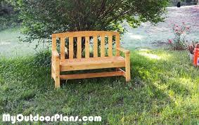2x4 Outdoor Furniture by Diy 2x4 Outdoor Bench Myoutdoorplans Free Woodworking Plans