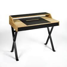Schreibtisch Aus Eiche Stanley Schreibtisch Eiche Massiv Geölt Schreibunterlage Und
