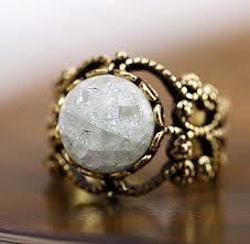 vintage crystal rings images Ice crystal rings vintage tibetan ceramic ring with ancient copper jpg