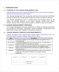 sample change management plan 8 examples in word pdf