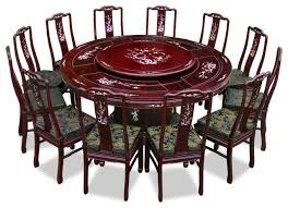 Rosewood Dining Room Set 72 Rosewood Pearl Inlay Design Dining Table With 12