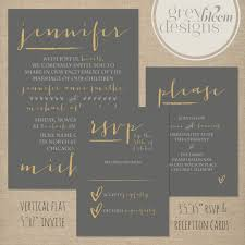 Flat Invitation Cards Printable Wedding Flat Invitation Reception U0026 Rsvp Cards Diy
