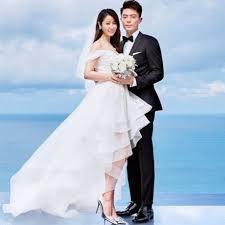 wedding dress korean korean style shoulder tailed wedding dress fashion