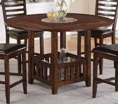 acme theodora drop leaf counter height dining table in walnut