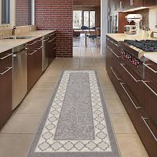 Rubber Backed Area Rugs by Trellis Red Floral Design Rubber Backed Durable Area Rug Carpet