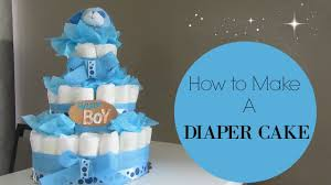 How To Make A Diaper Cake Youtube
