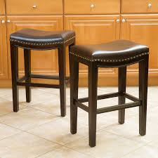 amazon com best selling aster backless counter stools brown set
