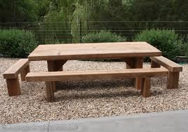 Outdoor Furniture Table by Solid Timber Outdoor Furniture Manufacturers Sleeper Tables