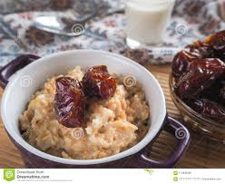 id cuisine simple simple healthy food oatmeal with dates and stock image